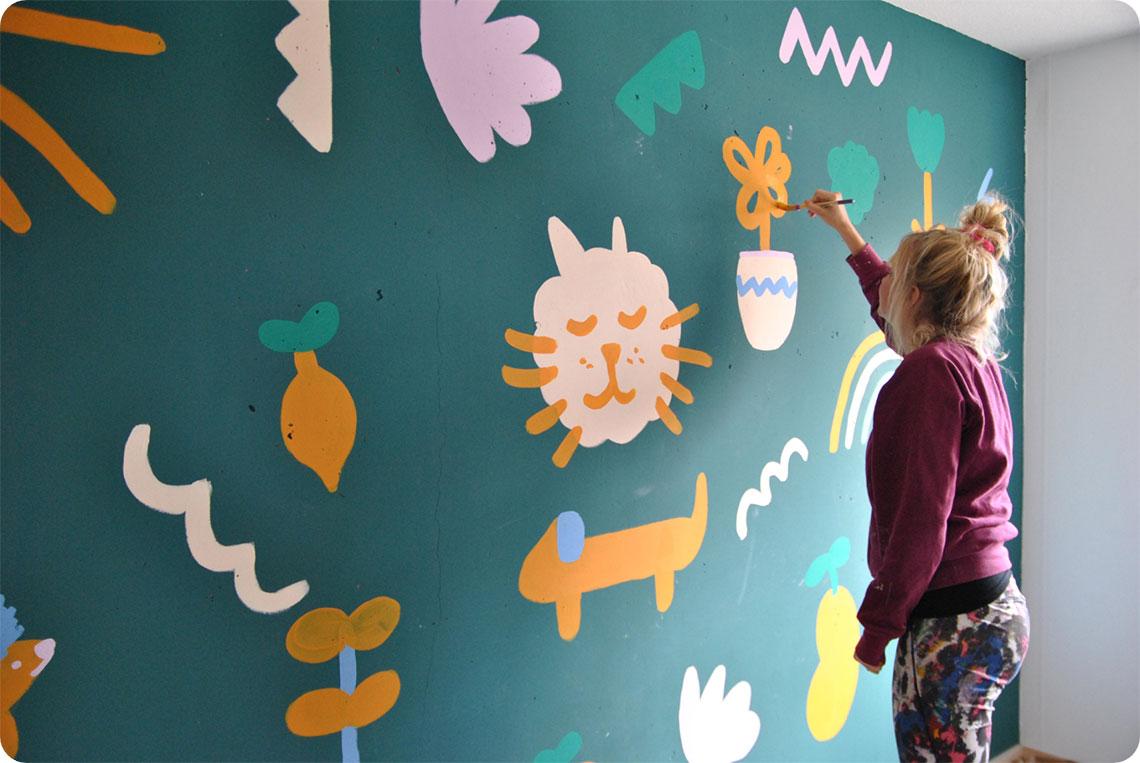 Jolijn muurschildering
